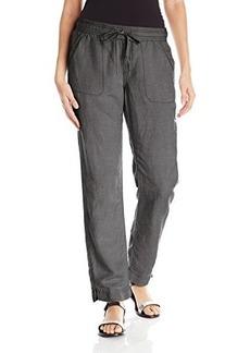 Calvin Klein Jeans Women's New Linen Pant, Black, Small