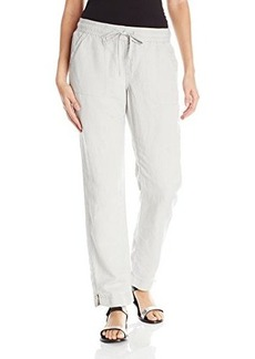 Calvin Klein Jeans Women's New Linen Pant, Vellum, Small
