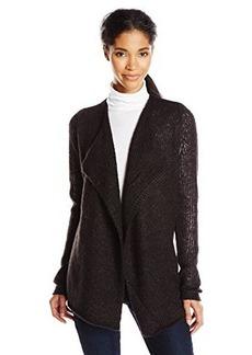 Calvin Klein Jeans Women's Open Drape Cardigan, Black, Medium