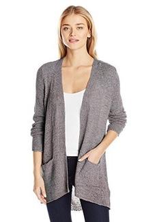 Calvin Klein Jeans Women's Open Tape Yarn Cardigan Sweater, Ebony, Small