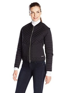 Calvin Klein Jeans Women's Quilt Mix Zip Jacket