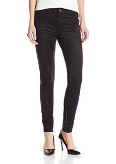 Calvin Klein Jeans Women's Seamed Suede Legging, Black, 32