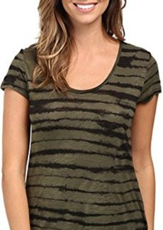 Calvin Klein Jeans Women's Short Sleeve Downtown Tee, Olive Night, Large