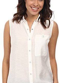 Calvin Klein Jeans Women's Sleeveless Knit Back Utility Shirt, Lattice, Medium