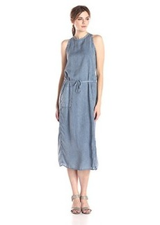 Calvin Klein Jeans Women's Slim Shoulder Sinch Dress, Blur, Large