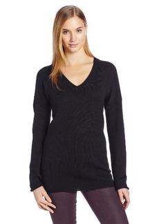 Calvin Klein Jeans Women's Solid Merino V-Neck Sweater