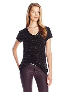 Calvin Klein Jeans Women's S/Spacedye Downtown Tee, Black, X-Large