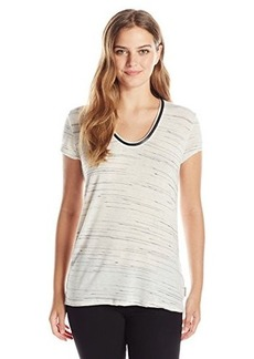 Calvin Klein Jeans Women's S/Spacedye Downtown Tee, Gardenia, Medium