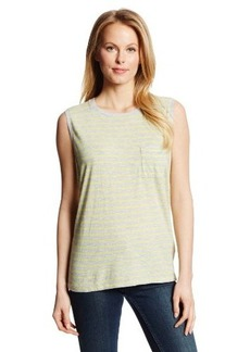 Calvin Klein Jeans Women's Striped Crew Neck Pocket Tee