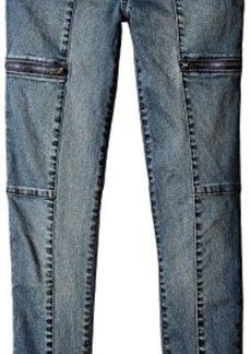 Calvin Klein Jeans Women's Utility Zip Legging, Ocean Mist, 30