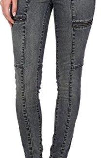 Calvin Klein Jeans Women's Utility Zip Legging, Ocean Mist, 29