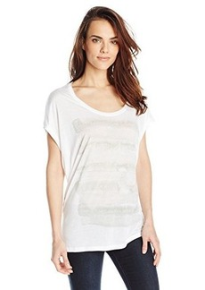 Calvin Klein Jeans Women's Watercolor Tee, White, Large