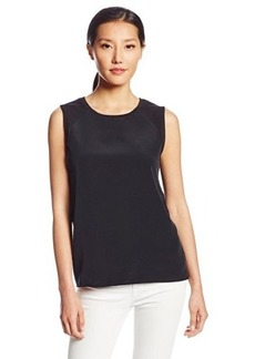 Calvin Klein Jeans Women's Woven Front Terry Tank