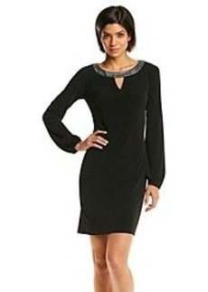 Calvin Klein Jewel Neck Shift Dress