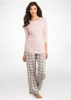 Calvin Klein Knit and Flannel Pajama Set