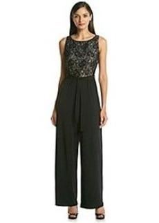 Calvin Klein Lace Bodice Jumpsuit