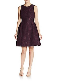 Calvin Klein Lace Fit-And-Flare Dress