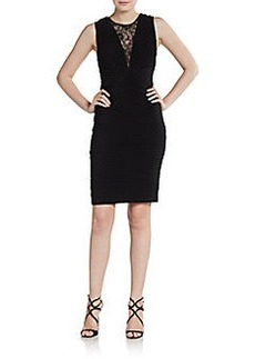 Calvin Klein Lace-Inset Banded Dress