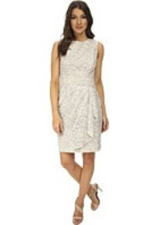 Calvin Klein Lace Sheath Dress w/ Draped Waist
