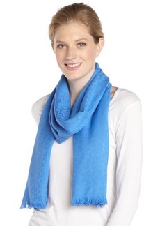 Calvin Klein lake blue CK logo pattern pashmina scarf