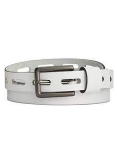 Calvin Klein Large Perforated Flat Strap Skinny Belt