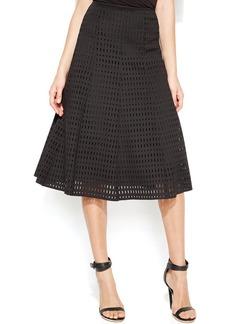 Calvin Klein Laser-Cutout A-Line Skirt