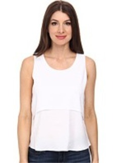 Calvin Klein Layered Sleeveless Crepe De Chine Blouse