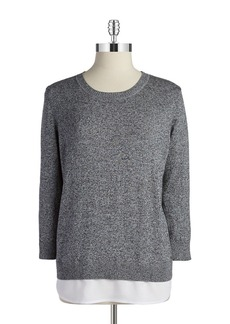 CALVIN KLEIN Layered-Style Pullover Sweater