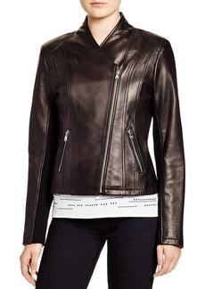 Calvin Klein Leather Moto Jacket - Bloomingdale's Exclusive