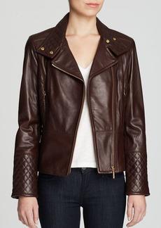 Calvin Klein Leather Peplin Jacket
