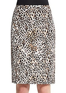 Calvin Klein Leopard-Print Pencil Skirt