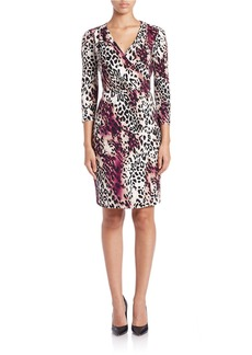 CALVIN KLEIN Leopard-Print Sheath Dress