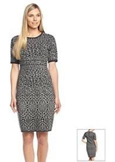 Calvin Klein Leopard Print Sweater Dress