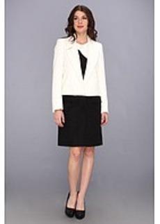 Calvin Klein Long Colorblock Melton Coat