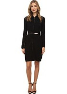 Calvin Klein Long Sleeve Belted Sweater Dress