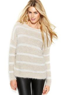 Calvin Klein Long-Sleeve Fuzzy Stripe Sweater