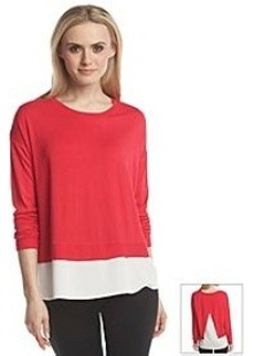 Calvin Klein Long Sleeve Layered Top