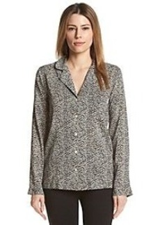 Calvin Klein Long Sleeve Pajama Top In Primal Leopard