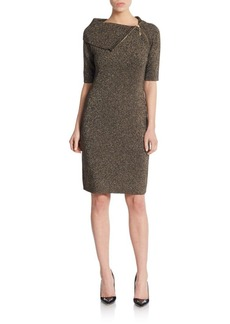 Calvin Klein Lurex-Detailed Sweater Dress