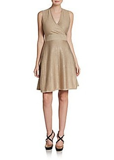 Calvin Klein Lurex Fit-And-Flare Dress