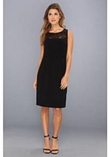 Calvin Klein Lux Sheath w/ Lace Top Dress