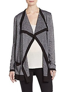 Calvin Klein Marled Open Front Cardigan