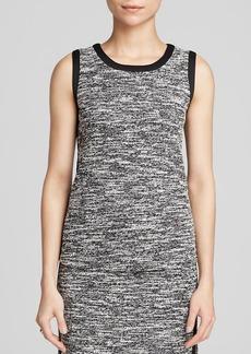 Calvin Klein Marled Tweed Top - Bloomingdale's Exclusive