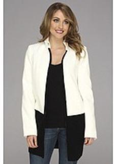 Calvin Klein Melton Jacket w/ Sweater Trim