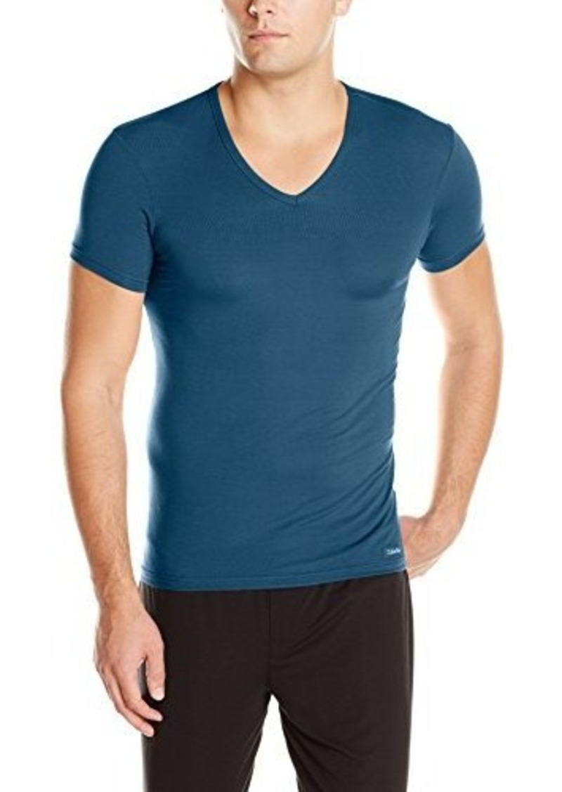 Calvin klein calvin klein men 39 s body modal short sleeve v for Modal t shirts mens
