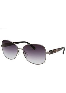Calvin Klein Men's Square Gunmetal Sunglasses