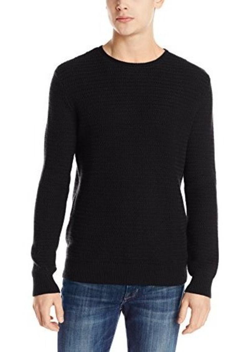 calvin klein calvin klein men 39 s textured crew neck sweater. Black Bedroom Furniture Sets. Home Design Ideas
