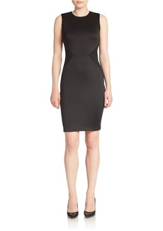 CALVIN KLEIN Mesh Inset Sheath Dress