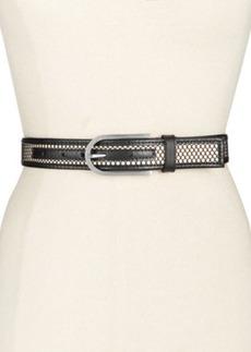 Calvin Klein Mesh Panel Leather Belt