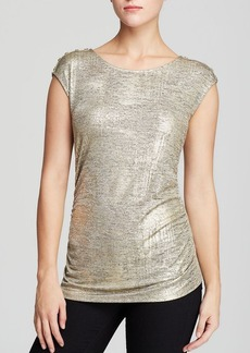 Calvin Klein Metallic Cap Sleeve Top